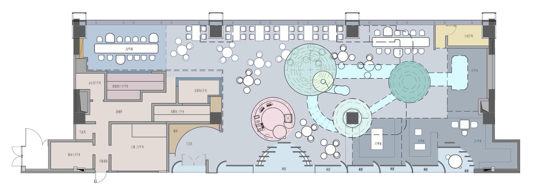 达美中心西餐厅厨房设计方案
