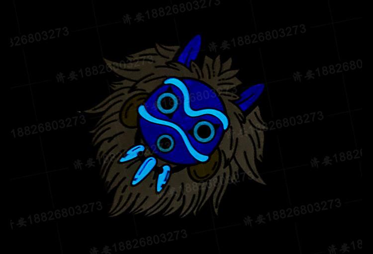 幽灵公主面具夜光徽章