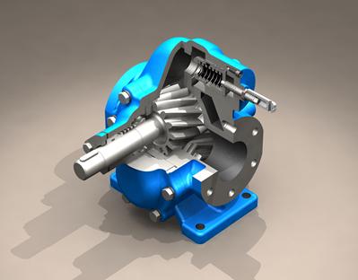 KCB齿轮泵剖面图