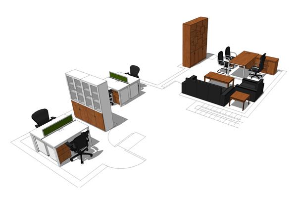 南京高端办公家具公司定制设计莱茵铂郡复式挑高办公室