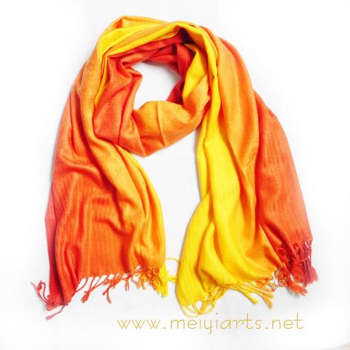 满提花仿羊绒橘黄色