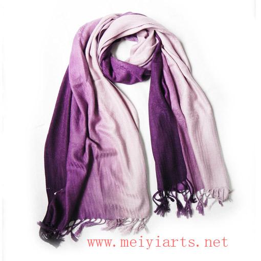 满提花仿羊绒紫白色