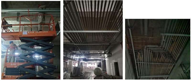 醫院地下管線安裝過程圖