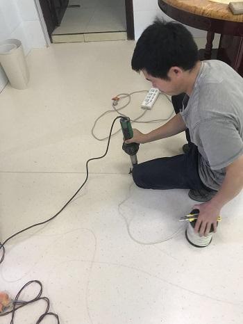 PVC运动地板建设施工3