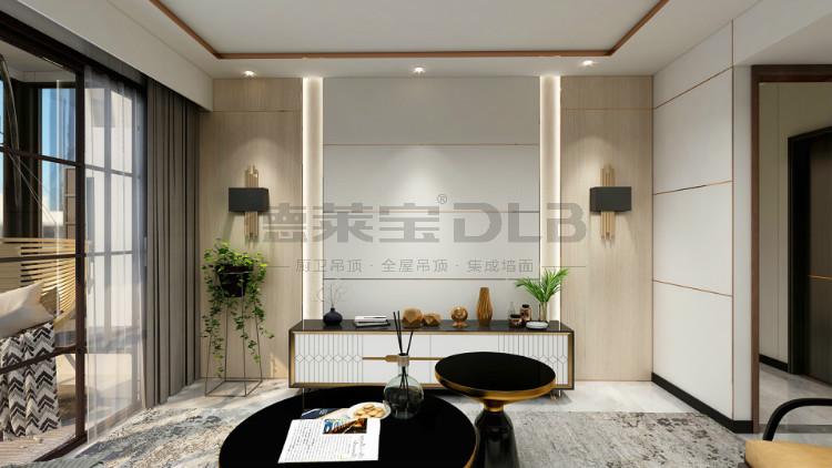 德莱宝无界大板无主灯设计客厅效果图