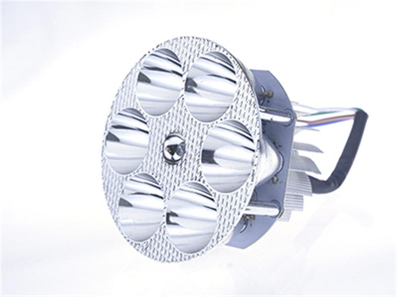 摩托车六珠内置圆形LED前大灯