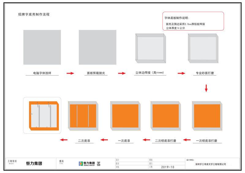 楼宇贴墙发光字施工图17