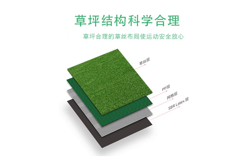 足球场人造草坪结构