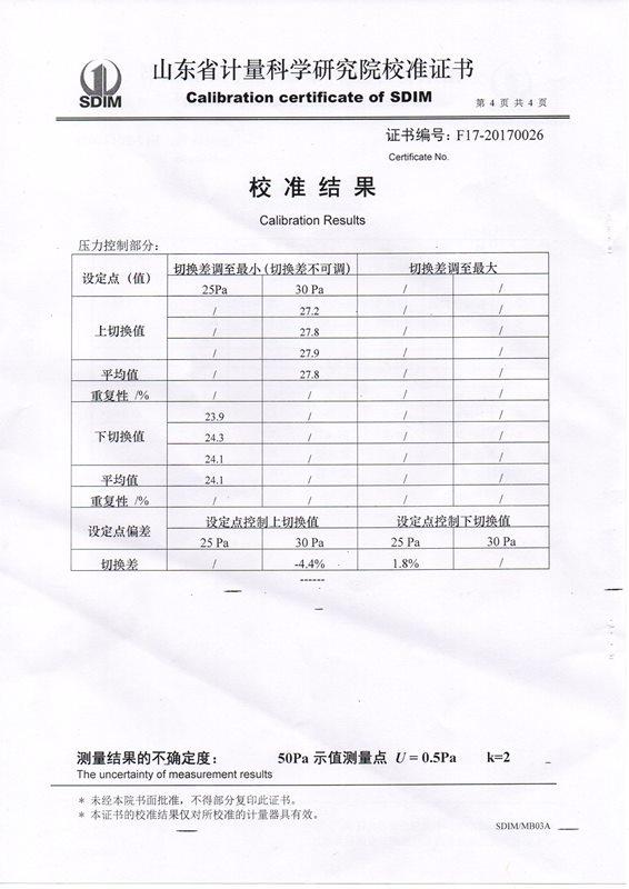 省计量院校准证书004