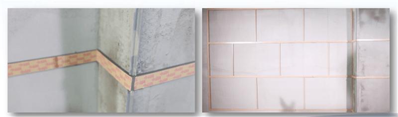 外墙仿石灰石涂料分线和粘贴厚型胶条
