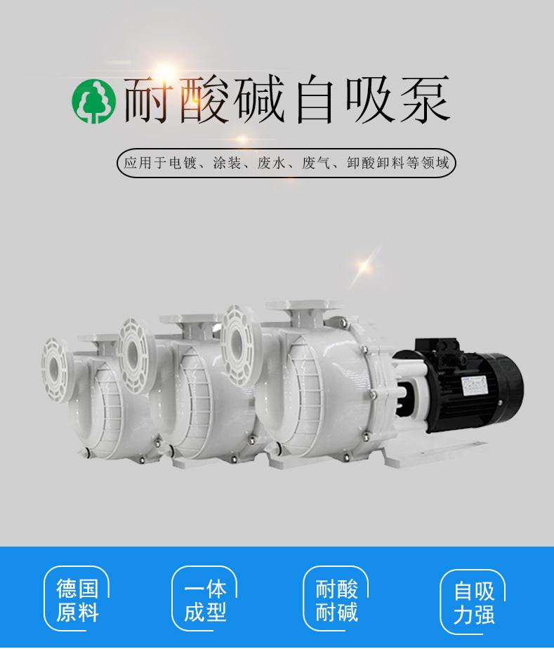 工程塑料耐酸碱污水自吸泵