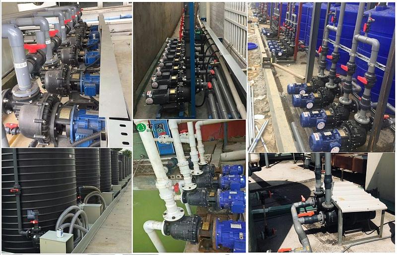 自吸泵应用在废水废气卸酸等工艺