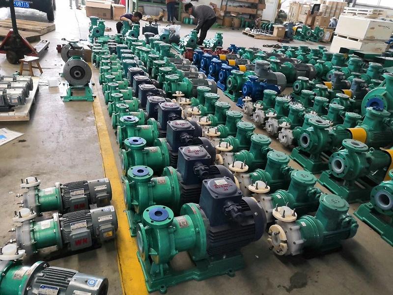 氟塑料磁力泵适合卸碱使用