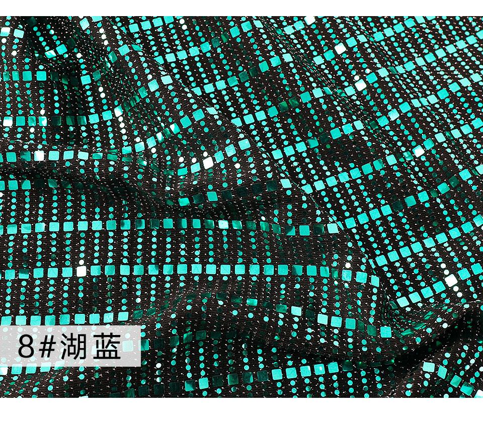新款面料贴片亮片条纹闪亮金片弹力针织面料(18)