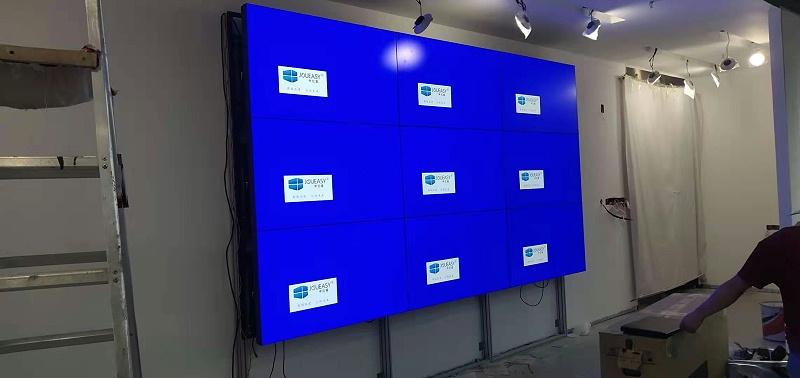 众投邦展厅55寸3.5mm液晶拼接屏效果图