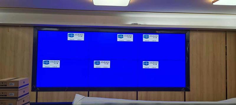 中亿睿拼接屏助力揭阳市公安办公室建设智能化安防系统项目安装效果