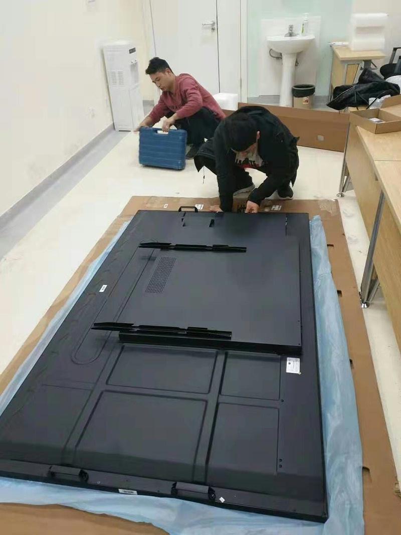 河南省人民医院86寸触摸一体机发布系统