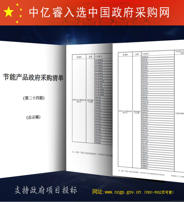 """中亿睿连续入选23,24期""""节能产品政府采购清单"""""""