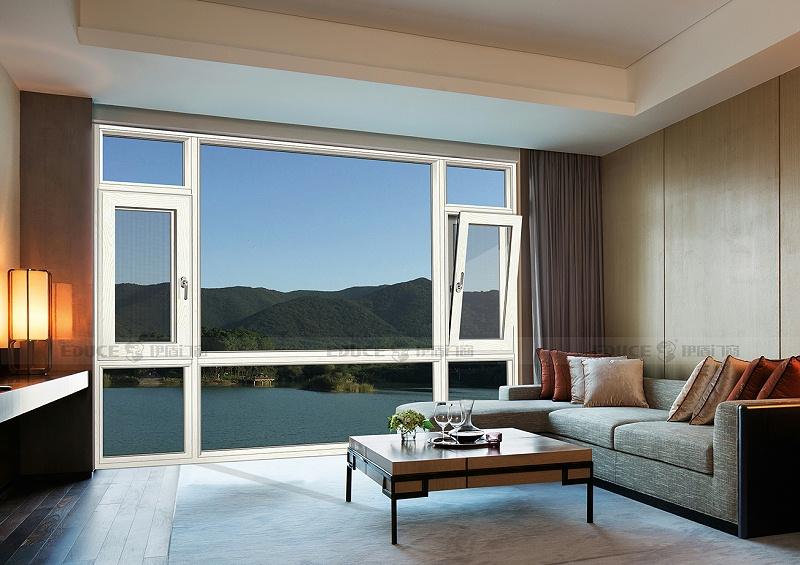 英伦贵族系统窗 128mm 白橡木