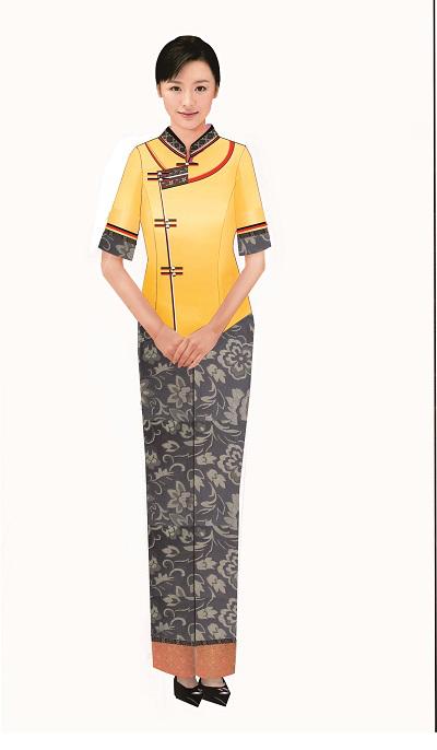 傣族工作服装设计图