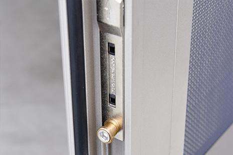 X106P外開上懸金鋼網內平開窗細節