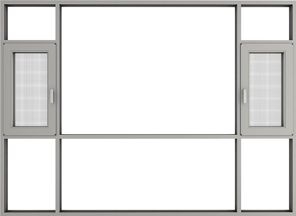 X118斷橋金鋼網一體窗