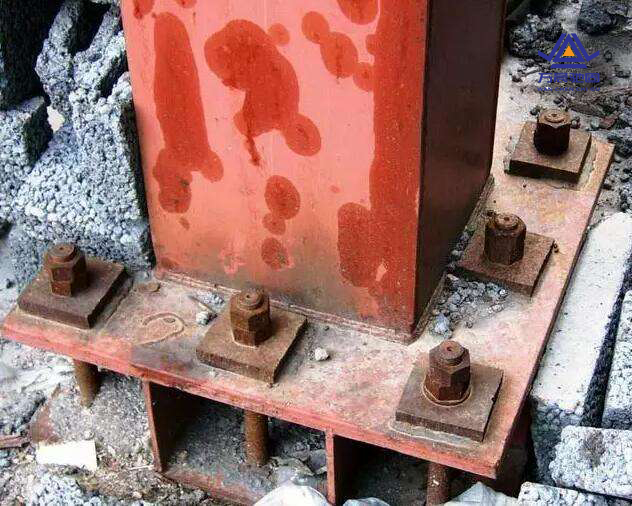 钢结构地脚螺栓链接焊接区别及防锈漆施工1