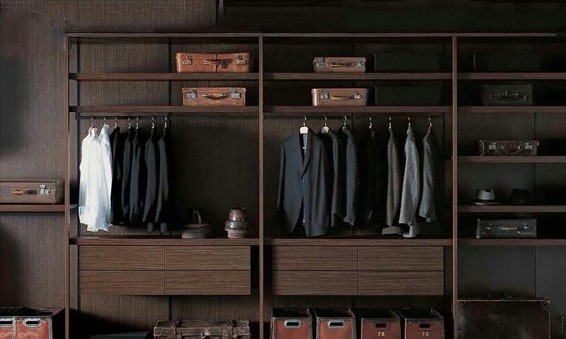 大衣柜里面服装用什么样衣架好看