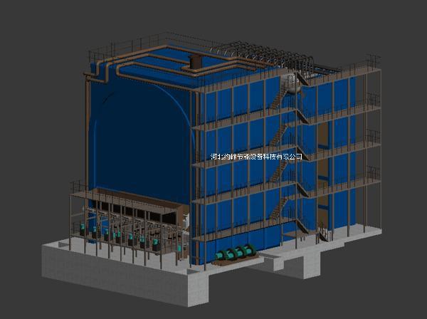 约翰节能废弃物焚烧炉案例图3D图