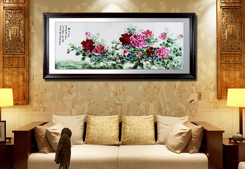 国色天香牡丹图 客厅装饰画