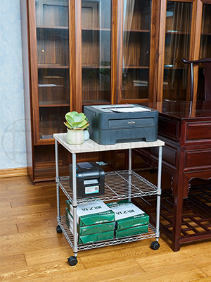办公室书房打印机传真机架可移动文件架-川井 (4)