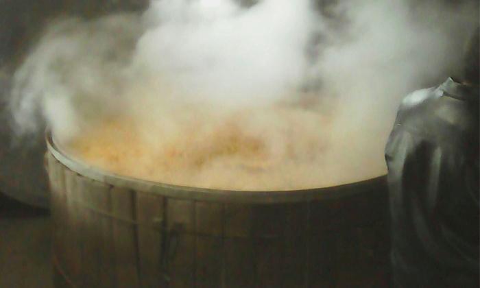9.20用小型酒厂酿酒设备蒸玉米