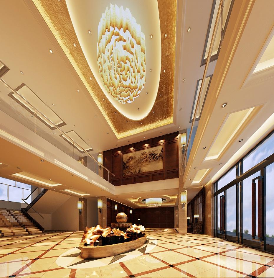 深圳酒店前台装饰效果图