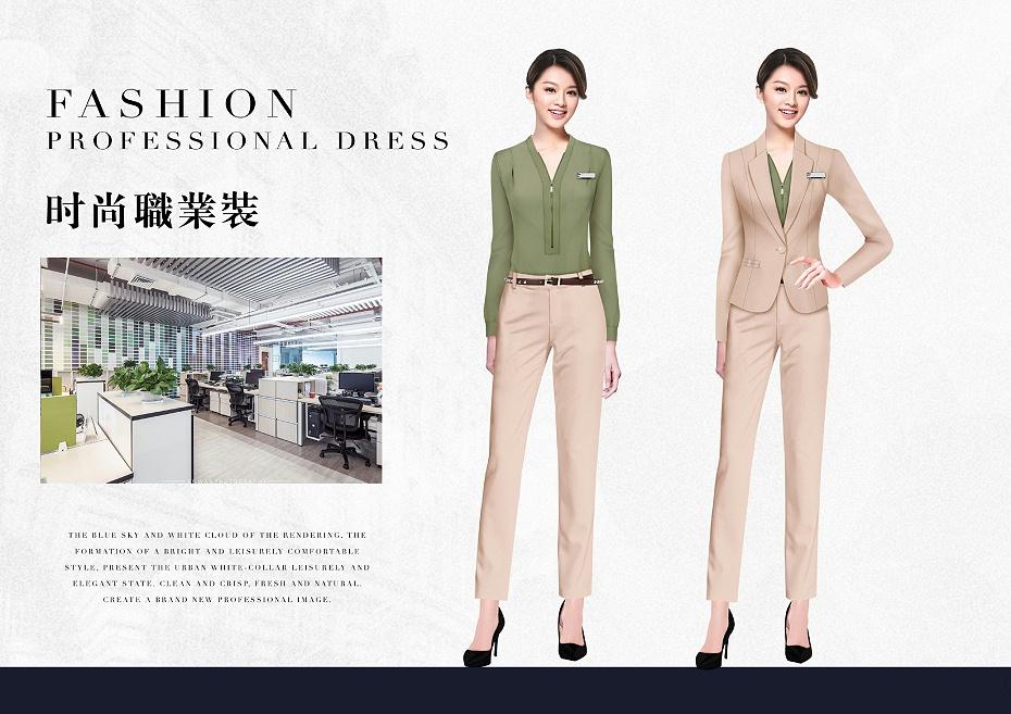 新款职场时尚通勤职业装设计案例58585