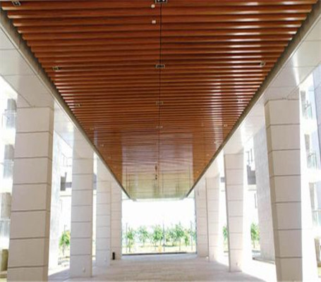 跟着U型铝方通厂家来看看铝方通吊顶效果图-佛山美利龙