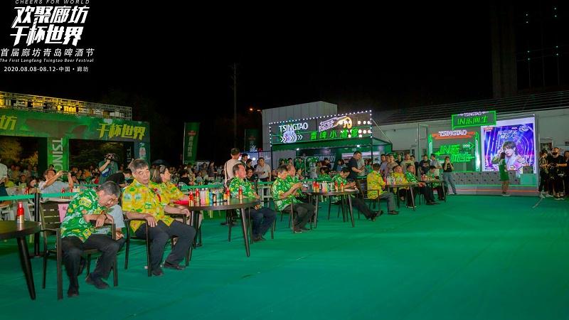 石家庄博采广告案例:廊坊青岛啤酒宣传照片 样片 酒王争霸赛