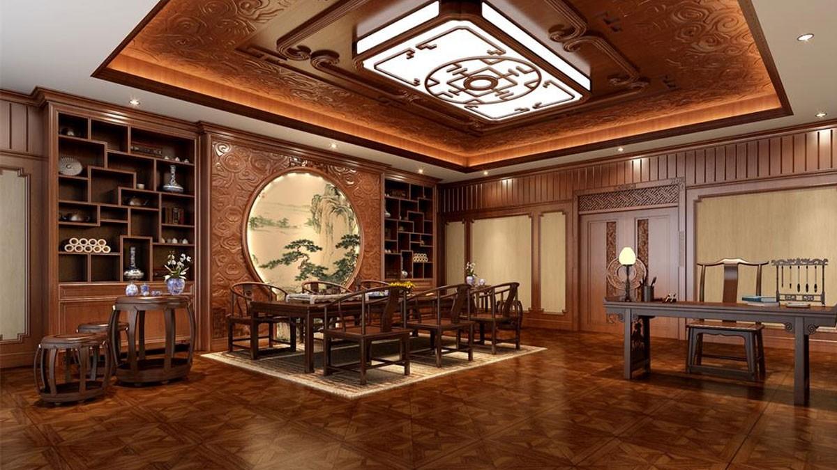 柚木茶室柜