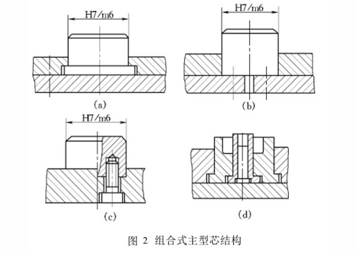 注塑件主型芯结构图-