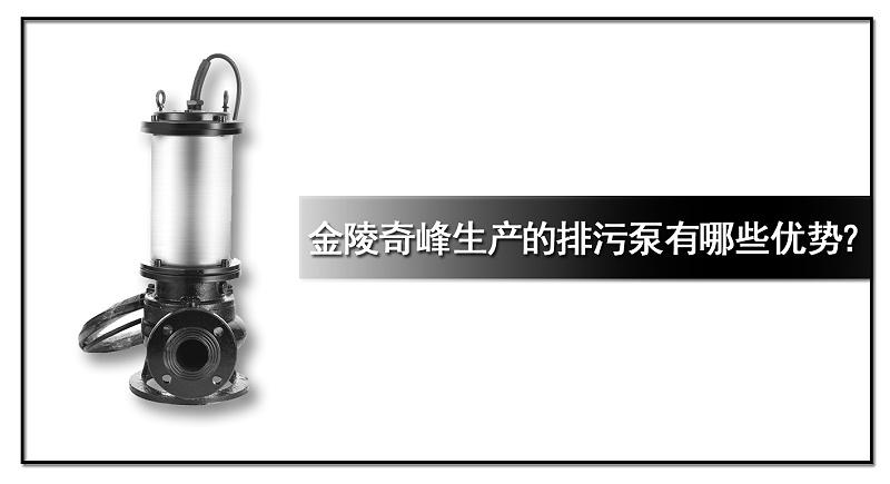 金陵奇峰生产的排污泵有哪些优势?