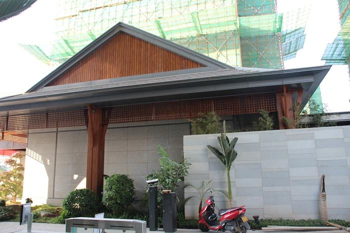 西双版纳春江明月高档小区室外铝单板装饰项目