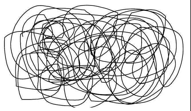 无定形塑料的分子结构图
